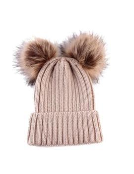 Newborn Kids Baby Boy Girl Pom Hat Winter Warm Crochet Knit Bobble Beanie Cap Us by Unbranded