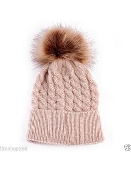 Newborn Kids Baby Boy Girl Warm Hat Knit Wool Girl Boy Hemming Crochet Ski Cap by Unbranded