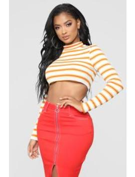 You Should Know Crop Top   White/Combo by Fashion Nova