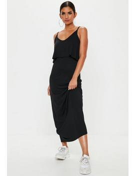 Black Overlay Maxi Dress by Missguided
