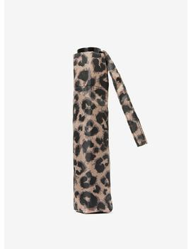taupe-leopard-print-umbrella by dorothy-perkins