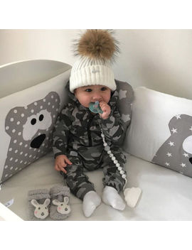 Newborn Baby Boy Girl Long Camo Romper Bodysuit Jumpsuit Playsuit Clothes Outfit by Unbranded