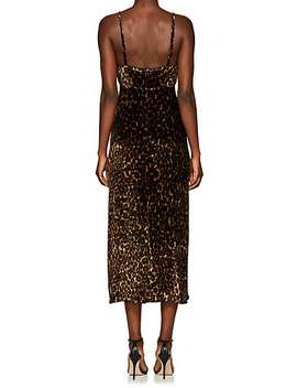 Lea Leopard Print Velvet Dress by Masscob