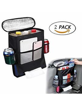 G1 Tech 2 Pack Car Seat Back Organizer Baby Backseat Organizer Multi Purpose Travel Storage Bag by G1 Tech