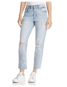 High Rise Astrology Straight Leg Jeans In What's Your Sign by Pistola