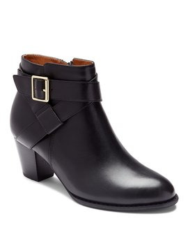 Trinity Leather Block Heel Booties by Vionic