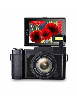 Digital Camera Vlogging Camera Full Hd1080p 24.0 Mp Camera 3.0 Inch Flip Screen Camera With Retractable Flashlight Vlogging Camera For You Tube by Comi