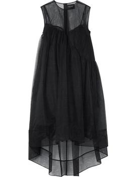 Asymmetrisches Kleid Aus Tüll by Simone Rocha