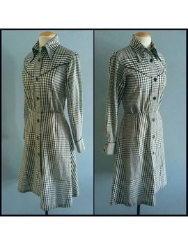 Vintage Black And White Gingham Western Dress. by Etsy