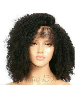 Sexy Black Kinky Curly  Lace Front Wig by Etsy