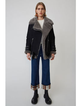 Shearling Jacket Black/Dark Grey by Acne Studios