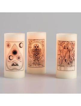 tarot-card-flameless-led-pillar-candles-set-of-3 by world-market