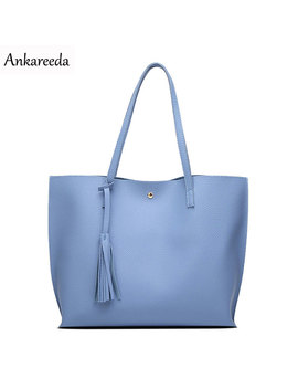 Ankareeda Luxury Brand Women Shoulder Bag Soft Leather Top Handle Bags Ladies Tassel Tote Handbag High Quality Women's Handbags by Ankareeda