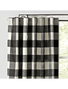 "Black Buffalo Check 63"" Blackout Curtain by Crate&Barrel"