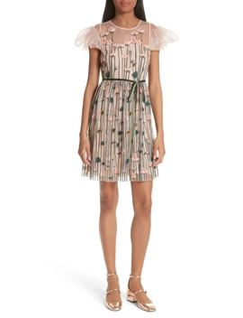 Floral Embroidered Dress by Red Valentino