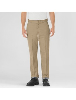 Dickies® Men's Relaxed Straight Fit Flannel Lined Twill Work Pants by Dickies