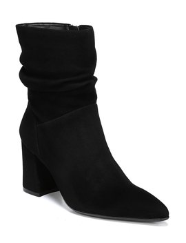 Hollace Suede Scrunch Short Block Heel Boots by Naturalizer