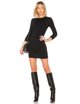 Cashmere Ruched Mini Dress by Enza Costa