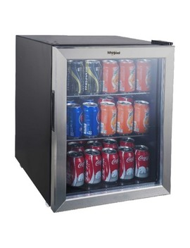 Whirlpool 2.7 Cu. Ft. Mini Refrigerator Beverage Center   Stainless Steel Jc 75 Nzy by Whirlpool