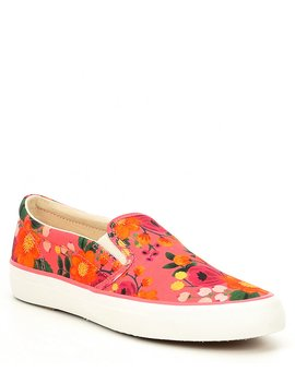 Keds X Rifle Paper Co. Anchor Vintage Blossom Printed Slip Ons by Kate Spade New York