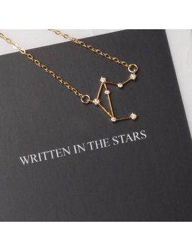 Libra Constellation Necklace   14k Gold Filled Constellation Necklace With Mythology Card Included   Dainty Birthday Pendant For Her by Etsy