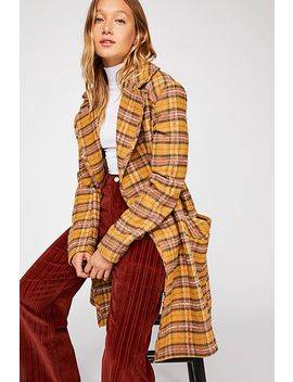Ciao B Check Coat by Free People