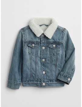 Sherpa Lined Denim Jacket by Gap