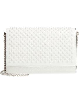 Paloma Spiked Patent Calfskin Clutch by Christian Louboutin