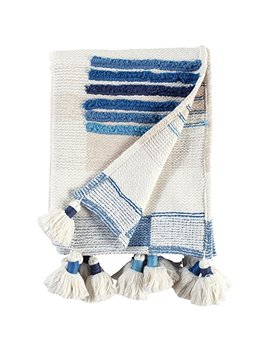 Rivet Global Textured Throw Blanket With Large Tassels by Rivet