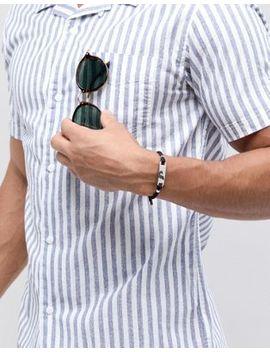 Emporio Armani Egs2543040 Woven Id Bracelet In Black by Emporio Armani