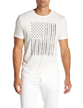 Zipper Star Studded Flag Graphic Tee by John Varvatos Star Usa