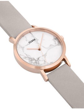 La Roche Petite Cl40103 Marble Leather Analog Watch by Cluse