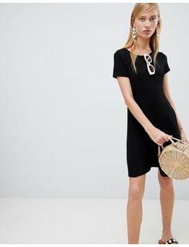 New Look Cap Sleeve Swing Dress by New Look