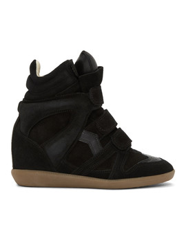 Black Beckett Wedge Sneakers by Isabel Marant
