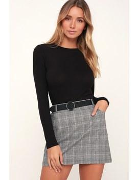 Hollis Black Ribbed Long Sleeve Crop Top by Lulus Basics