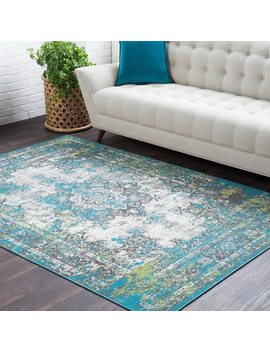 Trocadero Green Contemporary Persian Area Rug by Generic