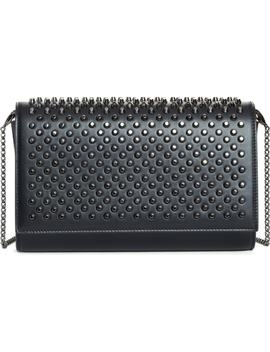 Paloma Spike Leather Clutch by Christian Louboutin