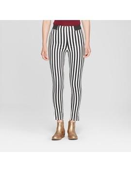 Junk Food Women's Striped Leggings   Black/White by Target