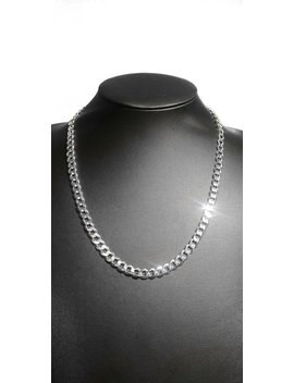 925 Sterling Silver 20 Inch 7 Mm 180 Gauge Curb Chain by Etsy