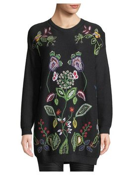 Long Embroidered Jersey Sweater by Valentino
