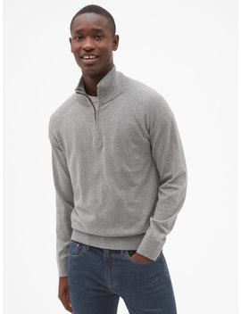 Half Zip Mockneck Pullover Sweater by Gap