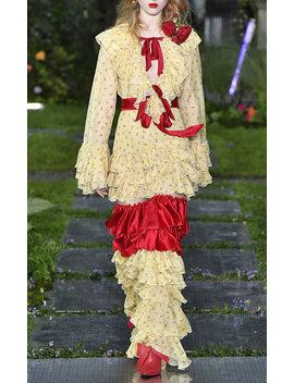 Floral Silk Chiffon Blouse by Rodarte