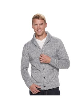 Men's Sonoma Goods For Life™ Supersoft Modern Fit Sweater Fleece Shawl Collar Cardigan by Kohl's