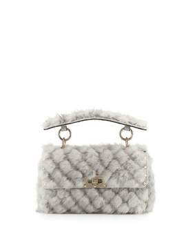 Spike.It Small Embellished Mink Shoulder Bag by Valentino Garavani