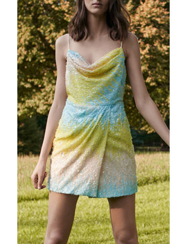 Edmund Ombre Sequin Mini Dress by Markarian