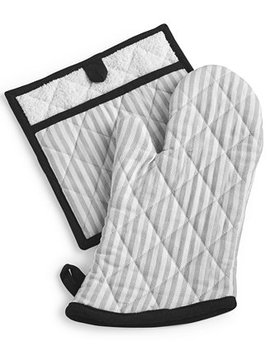 Striped Oven Mitt & Pot Holder Set, Created For Macy's by Martha Stewart Collection