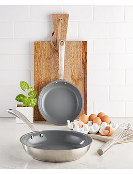 2 Pc. Fry Pan Set, Created For Macy's by Culinary Science By Martha Stewart Collection