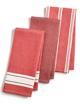 3 Pc. Waffle Weave Kitchen Towels, Created For Macy's by Martha Stewart Collection
