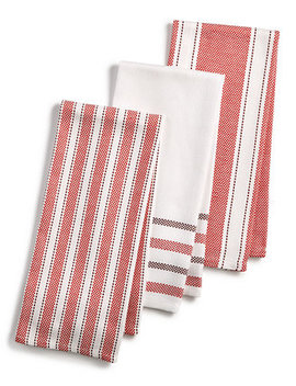 3 Pc. Basket Weave Kitchen Towels, Created For Macy's by Martha Stewart Collection