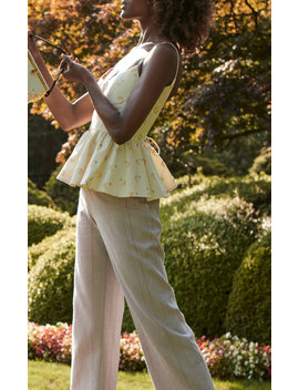 Morland Floral Faille Top by Markarian